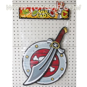 EVA Weapon Series pirate sword, shield kit
