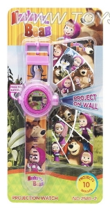Martha and bear projection electronic watches