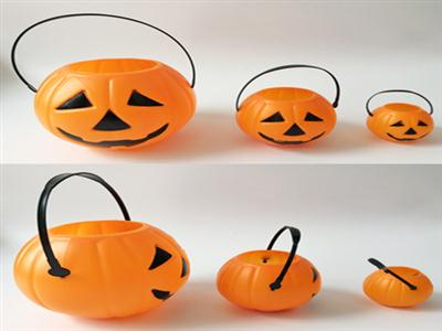 Halloween pumpkin bucket large