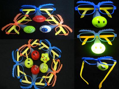 Flash clown nose glasses