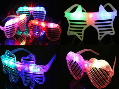 Luminous blinds glasses