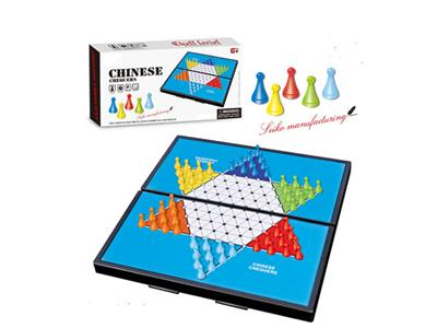 Folding magnetic Chinese checkers