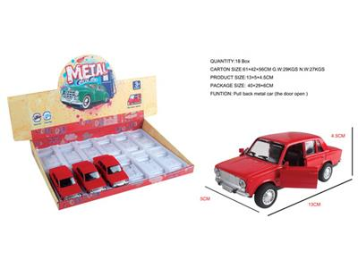12/box pull back alloy classic car (can open the door)