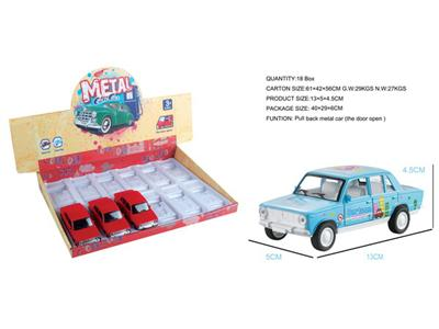 12/box transfer back to the cartoon alloy classic car (can open the door)