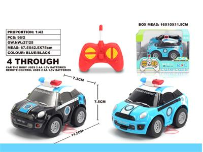 1:43Q version MINI police car
