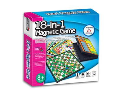 18 in 1 magnetic game chess