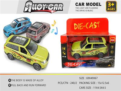 1:36 Light and Music Alloy Pull Back Car Model (1 Pack)