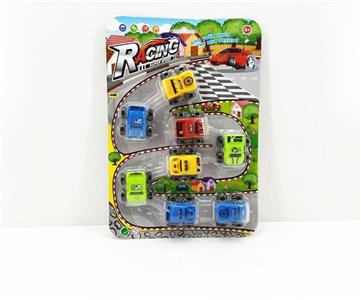 Pull back off-road cartoon car eight Pack