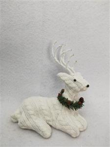 19 * 12 * 20CM lying position white deer