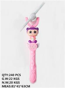 Surprise doll 5 lights pinwheel flash stick