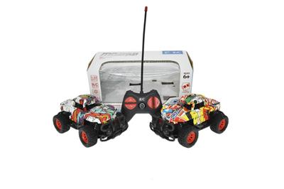 1:22 four-way remote control off-road graffiti car (without electricity)