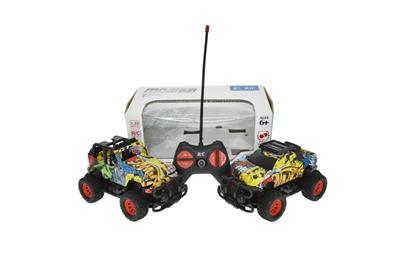 1:22 Four-way remote control jeep + pickup truck (without electricity)