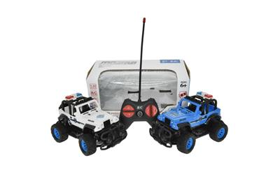 1:22 four-way remote control jeep police car (without electricity)