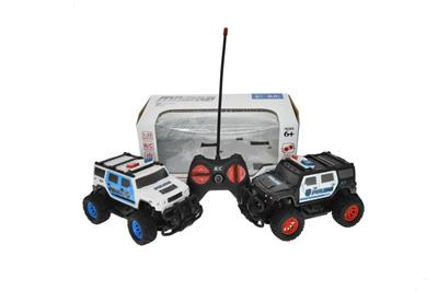1:22 four-way remote control Hummer police car (without battery)