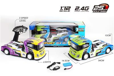 1:12 PVC 2.4G Remote Controlled Container Truck
