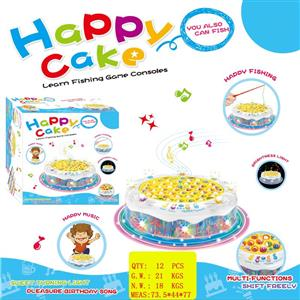 Electric music light fishing cake