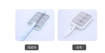 Telescopic folding electric mosquito swatter