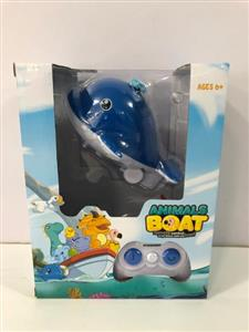 2.4G two-way charging amphibious remote control animal ship (whale)