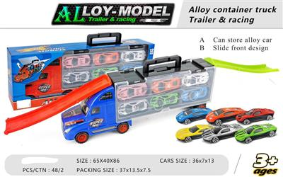 12 metal alloy car Truck with slide