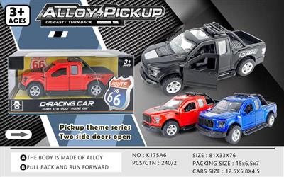 ALLOY PULL BACK CAR