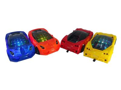 Pull line sports car with 3D lights