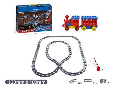 66 PCS Compatible with Lego Large Particle Puzzle Block Track