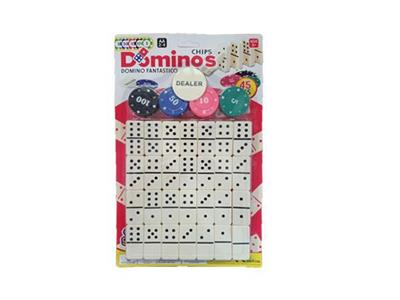 Domino cards with 16 chips