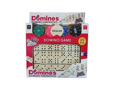 Domino cards with 20 chips