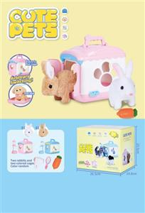 Electric opening door cute pet house (rabbit)