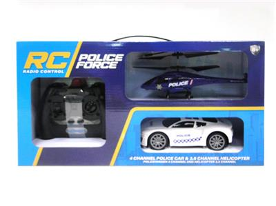 3.5 through remote control all-inclusive aircraft and remote control police car
