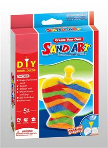 DIY colored sand art
